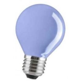 15D1/B/E27 15W лампа накал. капля синяя GE