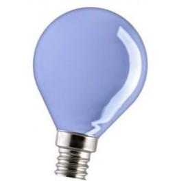 15D1/B/E14 15W лампа нака. синяя капля GE