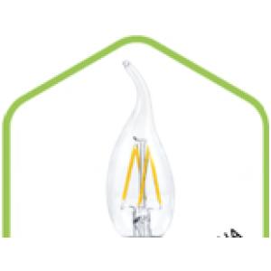 LED-СВЕЧА НА ВЕТРУ-PREMIUM 5.0Вт 220В Е14 3000К 450Лм прозрачная  светодиод. лампа ASD