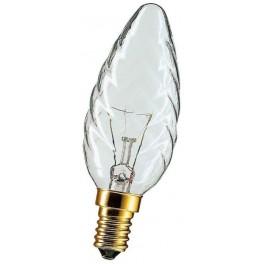 BW35 40W E14 CL свеча витая лампа накал.прозр.Philips