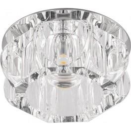 Светильник встраиваемый светодиодный JD159 потолочный 10W 3000K прозрачный хром