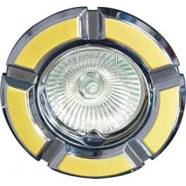 Светильник встраиваемый 098T-MR16 потолочный MR16 G5.3 золото-хром