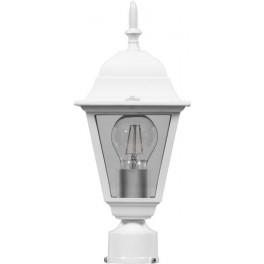 Светильник садово-парковый 4103 четырехгранный на столб 60W E27 230V, белый