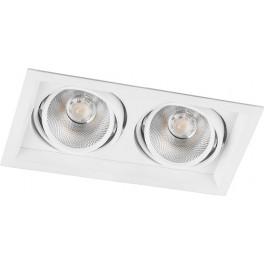 Светодиодный светильник AL202 карданный 2x12W 4000K 35 градусов ,белый