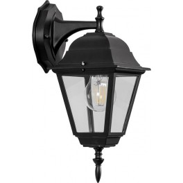 Светильник садово-парковый 4202 четырехгранный на стену вниз 100W E27 230V, черный