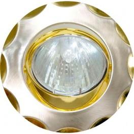 Светильник встраиваемый 703 потолочный MR16 G5.3 титан-золото