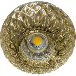 Светильник встраиваемый светодиодный JD187 потолочный 10W 3000K прозрачно-золотистый