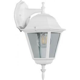 Светильник садово-парковый 4202 четырехгранный на стену вниз 100W E27 230V, белый