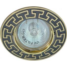 Светильник встраиваемый 2008DL потолочный MR16 G5.3 черный металлик-золото