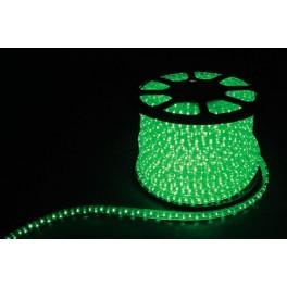 Дюралайт светодиодный LED-F3W 3-х жильный , зеленый 2,88Вт/м 72LED/м 50м 220V