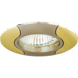Светильник встраиваемый 020T-MR16 потолочный MR16 G5.3 титан-золото