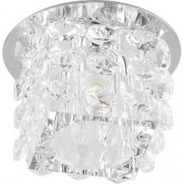 Светильник встраиваемый светодиодный JD58 потолочный 10W 3000K прозрачный хром