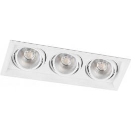 Светодиодный светильник AL203 карданный 3x20W 4000K 35 градусов ,белый
