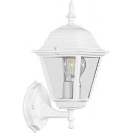 Светильник садово-парковый 4101 четырехгранный на стену вверх 60W E27 230V, белый