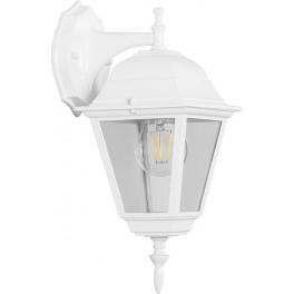 Светильник садово-парковый 4102 четырехгранный на стену вниз 60W E27 230V, белый
