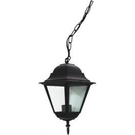 Светильник садово-парковый 4105 четырехгранный на цепочке 60W E27 230V, черный