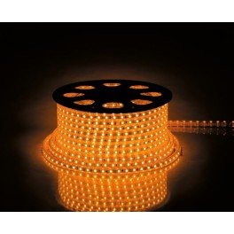 Cветодиодная LED лента LS707, 30SMD(5050)/м 7.2Вт/м  50м IP65 220V желтый