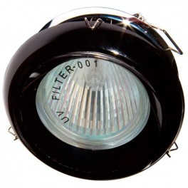 DL225-BK JCDR 50W G5.3 черный, хром (с лампой) см
