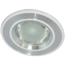 Светильник встраиваемый со светодиодной лампой, 24LED 3.5W 220V , серебро, DL4747