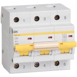 Автоматический выключатель ВА47-100 3Р 100А 10кА С