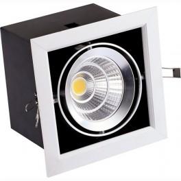 FL-LED Grille-111-1 30W 3000K 195*195*170мм 30Вт 2400Лм (светильник карданный светодиодный белый)