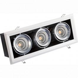 FL-LED Grille-111-3 90W 3000K 525*195*170мм 90Вт 7200Лм (светильник карданный светодиодный белый)