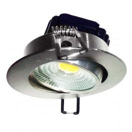 FL-LED Consta B 7W Aluminium 2700K хром 7Вт 560Лм (светильник встр. пов.)(S412) D=85мм d=68мм h=45мм