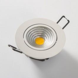 FL-LED Consta B 7W White 2700K белый 7Вт 560Лм (светильник встр. пов.)(S409) D=85мм d=68мм h=45мм