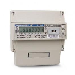 Счетчик 3ф 5-100А 230В 1/1 класс точн. многотариф.; оптопорт RS485 Моск. вр. Энергомера