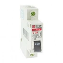 Выключатель авт. 1п C 25А ВА 47-29 4.5кА Basic EKF