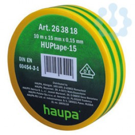 Изолента ПВХ 19мм (рул.20м) d74мм желто-зел. HAUPA