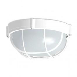"""Светильник НПП 03-60-014 """"Банник"""" 1302 круг малый IP65 корпус с решеткой бел. Элетех"""