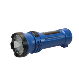 Фонарь светодиодный аккум. LED 2 режима 0.5Вт 300мА.ч прямая зарядка от 220В Космос