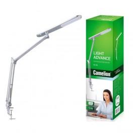 Светильник LED KD-785 C03 настол. струбцина 230В 5Вт 4000К серебр. Camelion