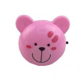 """Светильник NL-189 ночник с выкл. """"Мишка розовый"""" 220В Camelion"""