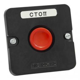 Пост кнопочный ПКЕ 122-1 У2 красная IP54 (карболит) ГОСТ