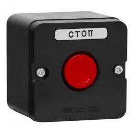 Пост кнопочный ПКЕ 222-1 красн. (пластик)