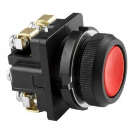 Выключатель кнопочный КЕ 011/2 красный 1з+1р, пластик