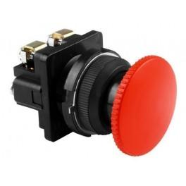 Выключатель кнопочный КЕ 021/3 красный 2р, карболит