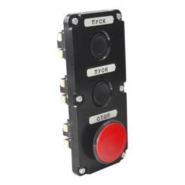 Пост кнопочный ПКЕ 112-3 У3 красный гриб IP40 (карболит) ГОСТ