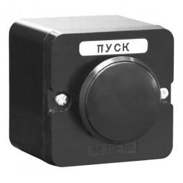 Пост кнопочный ПКЕ 212-1 У3 черный гриб IP40 (карболит) ГОСТ