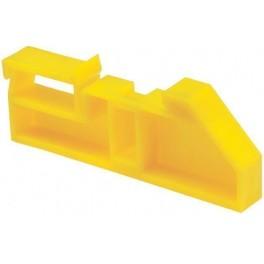 Изолятор на DIN-рейку желтый