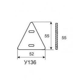 Бирка маркировочная У136 У3.5 (треугольник)