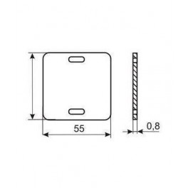Бирка маркировочная У 134 У3.5 (квадрат)