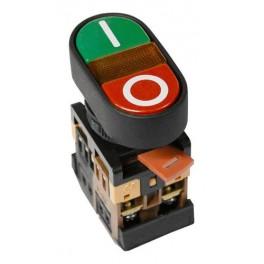 Кнопочный выключатель APBB-22N сдвоенная ' I - O ' с подсветкой