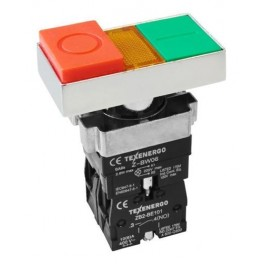 Кнопочный выключатель LAY5-BW8465 сдвоенная ' I-O' с подсветкой