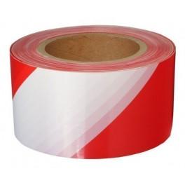 Лента оградительная ЛО-250 красно-белая 75мм 250 м