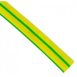 Трубка термоусаживаемая ТУТ 4/2 жёлто-зелёный нг