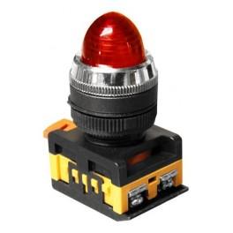 Сигнальная лампа AL-22 красный 230В неоновая лампа, колпачек выпуклый