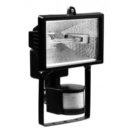 Прожектор галогенный ИО150ВтД с датчиком движения черный IP54